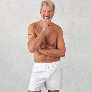 Tom Clinch White Boxer Shorts | Unique Support Pouch | Home of the 10 year boxer shorts guarantee