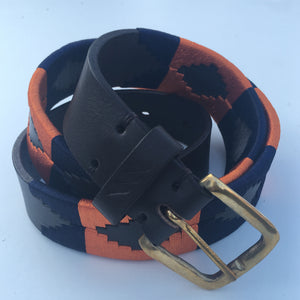 Polo Belt - Orange and Navy | Tom Clinch
