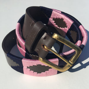 Polo Belt - Pink and Navy | Tom Clinch