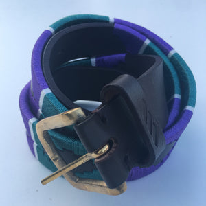 Polo Belt - Green and Purple | Tom Clinch