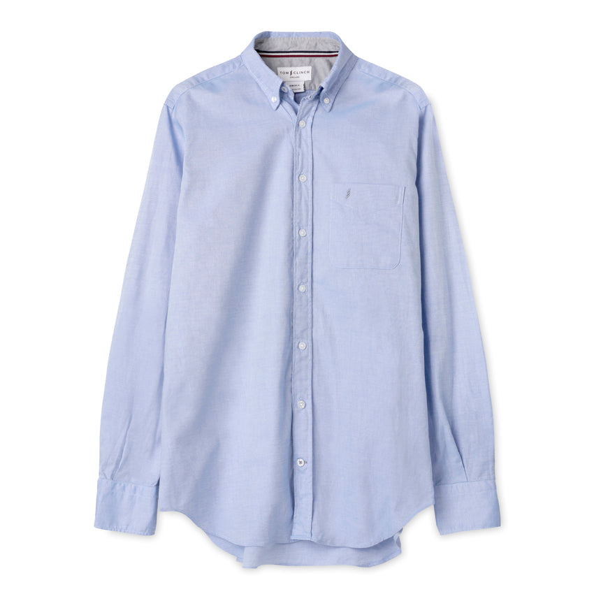 Tom Clinch | Blue Classic Oxford Shirt