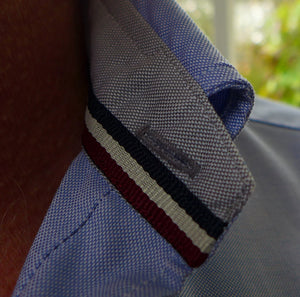 Tom Clinch | Blue Classic Oxford Shirt Collar Detail