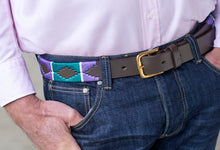 Load image into Gallery viewer, Tom Clinch | Green and Purple Polo Belt