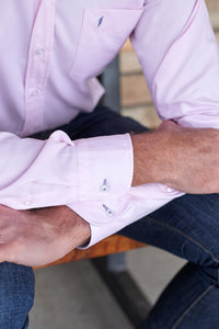 Tom Clinch | Pink Classic Oxford Shirt Cuff Detail