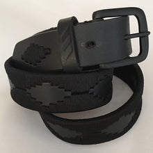 Load image into Gallery viewer, Polo Belt - Black with Black Buckle | Tom Clinch