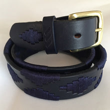 Load image into Gallery viewer, Polo Belt - Navy Blue with Grass Buckle | Tom Clinch