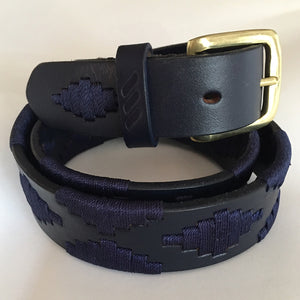 Polo Belt - Navy Blue with Grass Buckle | Tom Clinch