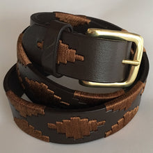 Load image into Gallery viewer, Polo Belt - Tan with Brass Buckle | Tom Clinch
