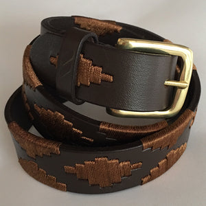 Polo Belt - Tan with Brass Buckle | Tom Clinch