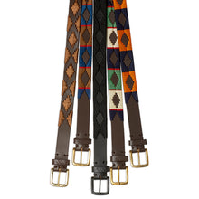 Load image into Gallery viewer, Tom Clinch | Hand stitched Polo Belt | 100% aged leather Polo Belt