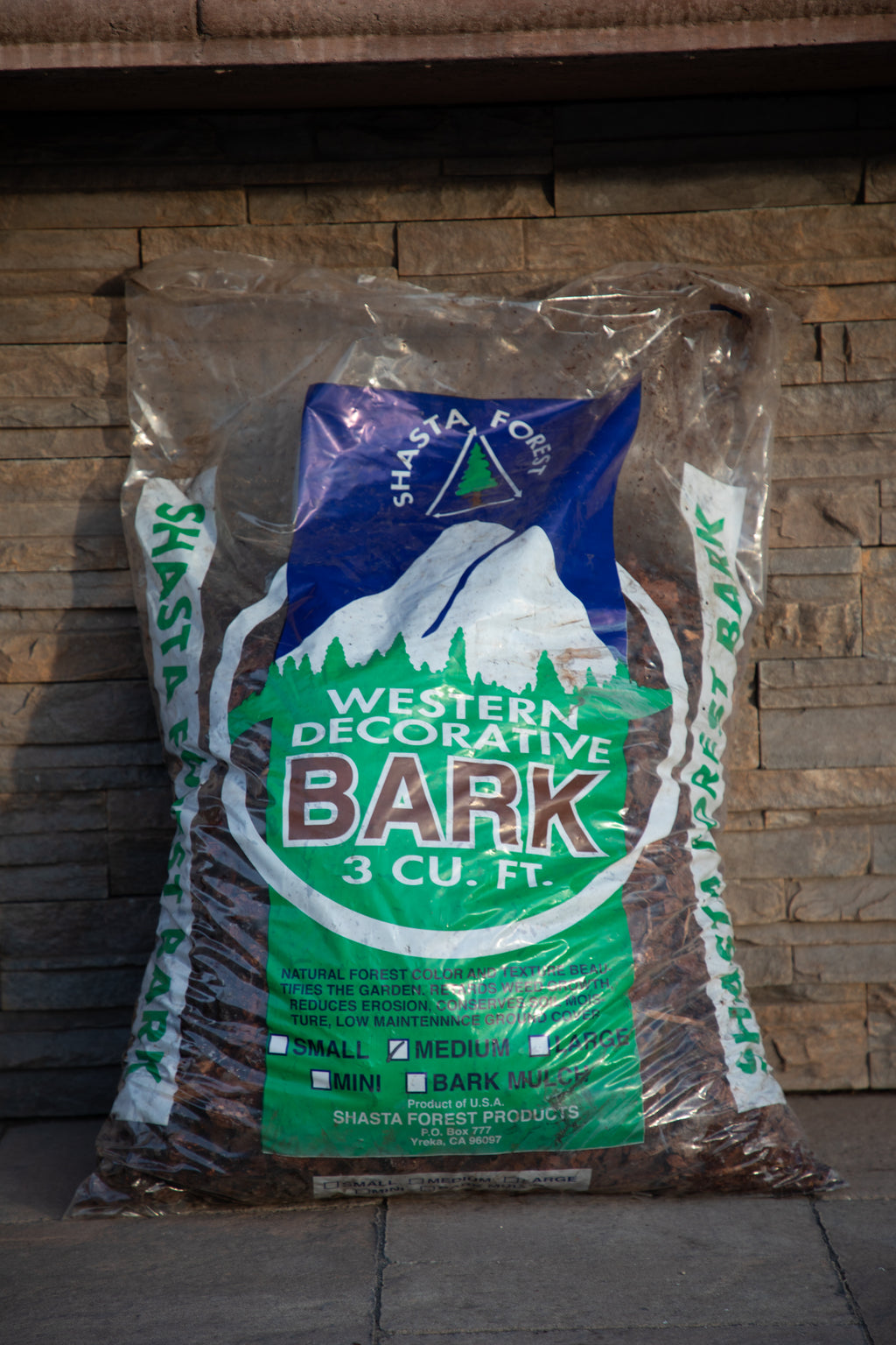 Decorative Bark (Bagged) - Shasta Forest Products, Inc