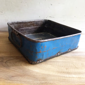 Blue Metal Tray