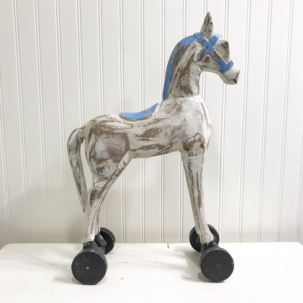 Folk Art Wooden Horse