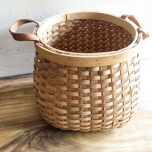 Leather Handled Basket