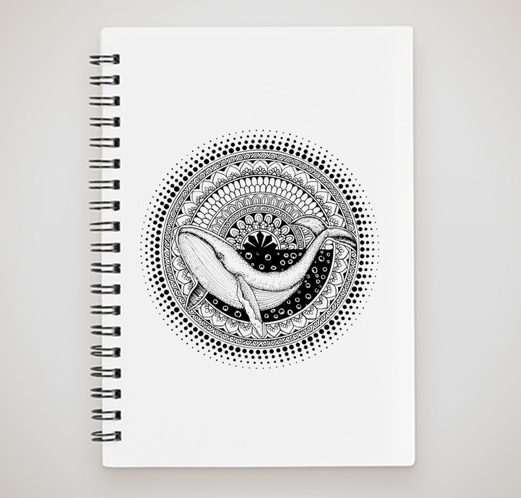 Notebook - Mandala with Dolphin