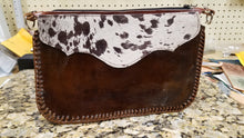 Load image into Gallery viewer, Acid-Washed Cowhide Wristlet