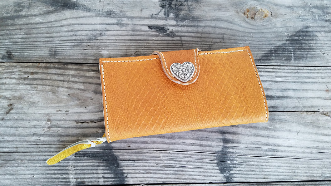 Yellow Clutch Wallet