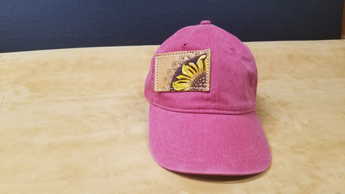Dark Pink Denim Cap