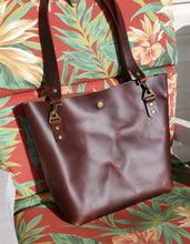 Load image into Gallery viewer, Brown Leather Tote Bag