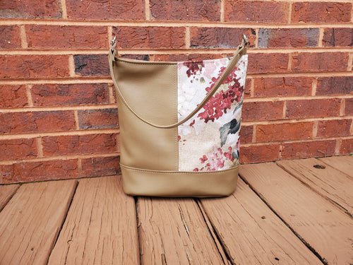 Bonnie Bucket Bag - Taupe & Floral