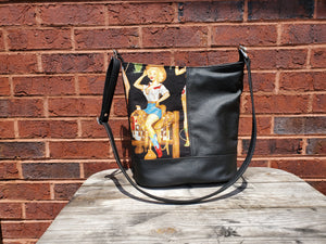 Bonnie Bucket Bag- Cowgirl Theme