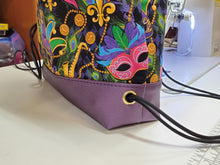 Load image into Gallery viewer, Begonia Drawstring Backpack- Mardi Gras