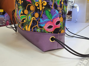 Begonia Drawstring Backpack- Mardi Gras