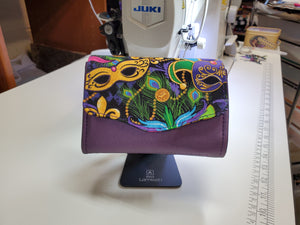 Mini Necessary Clutch Wallet - Mardi Gras