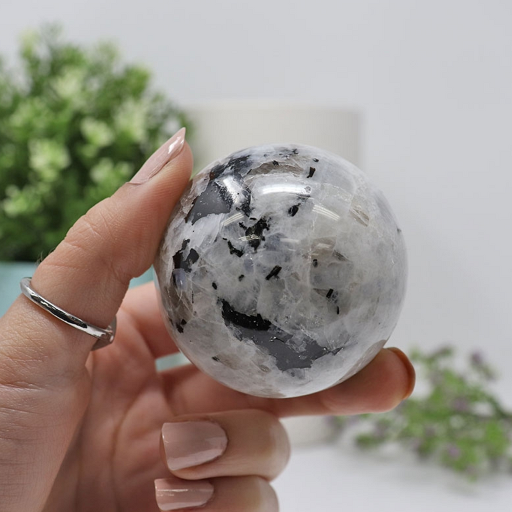 Rainbow Moonstone Crystal Sphere | Crystal Ball | Earth and Elements