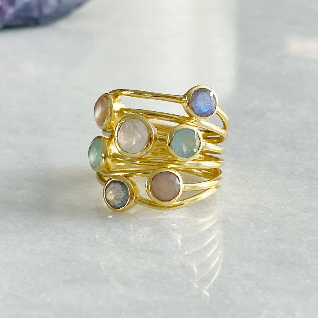 Iona Entwined Gemstone Ring