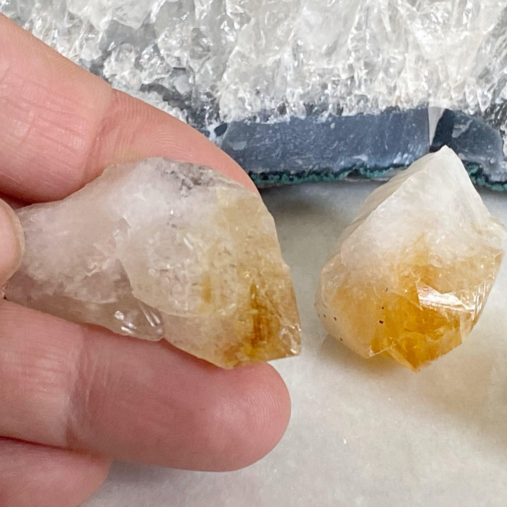 Natural Raw Citrine Crystal Point | Healing Crystals Earth and Elements