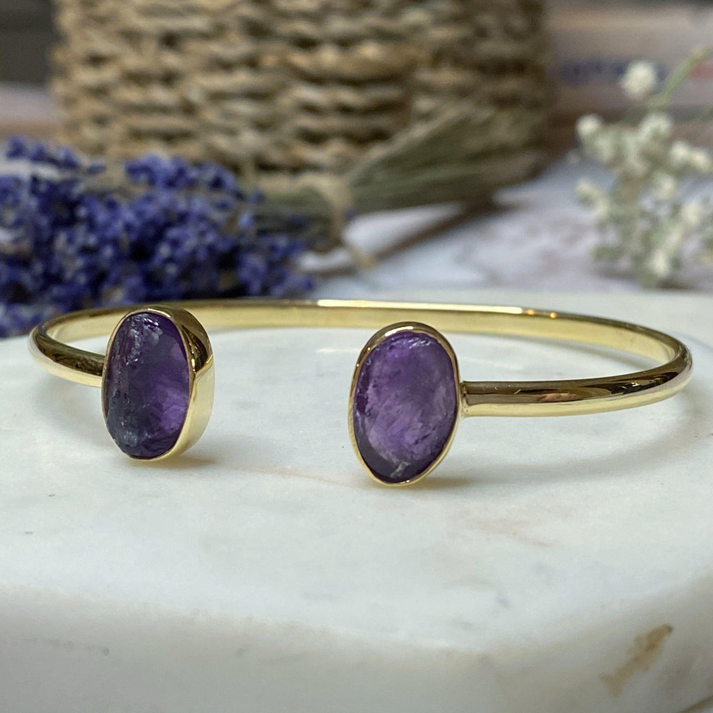 Amethyst Gemstone Bangle
