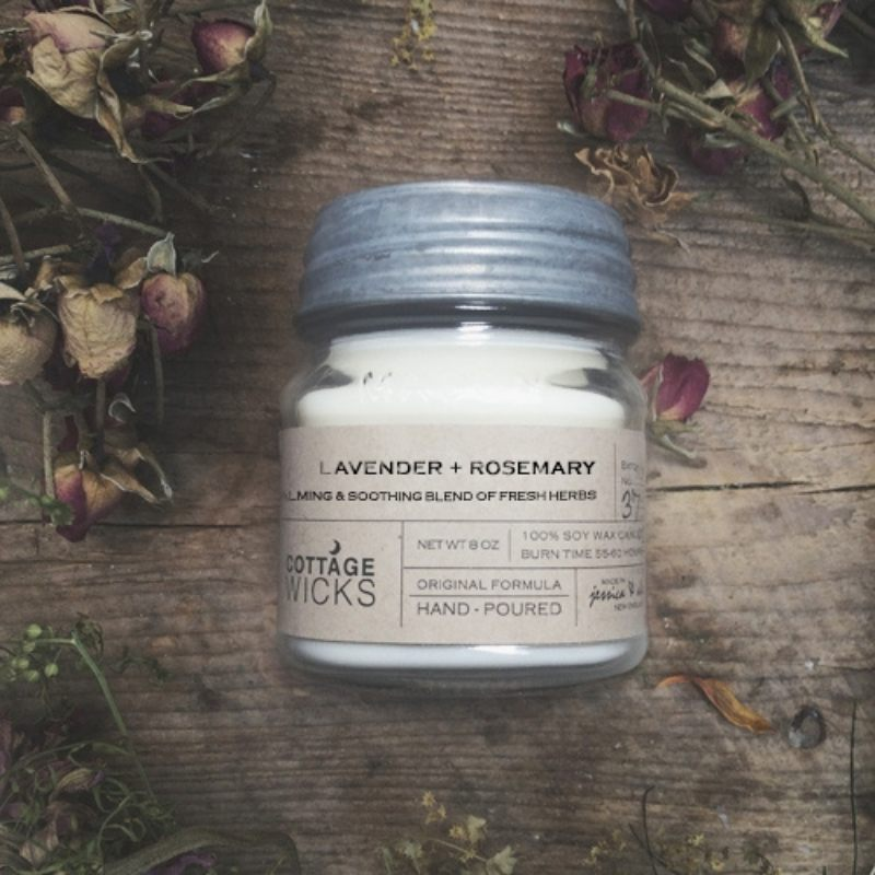 Lavender And Rosemary Hand Poured Essential Oil Candle
