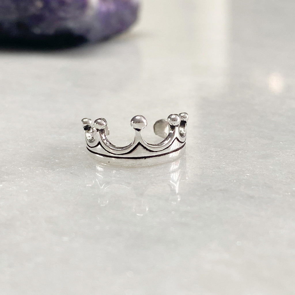 Princess Crown Silver Toe Ring -NEW