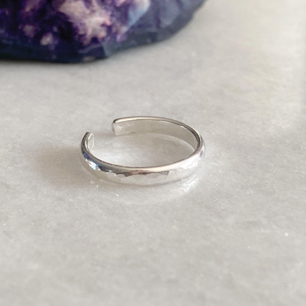 Simple Sterling Silver Toe Ring - Handmade