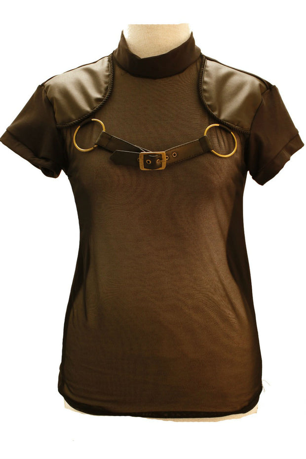 Brass O Ring Strap Harness Top