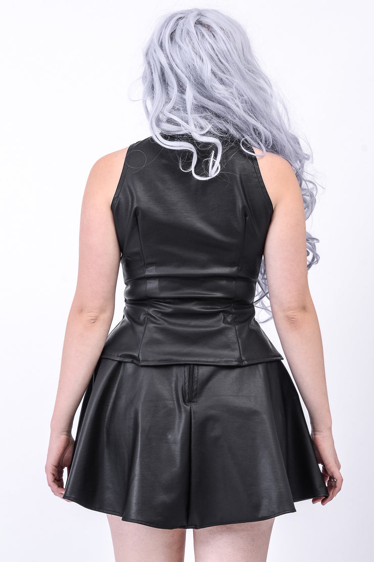 Pentagram Zip Sleeveless Barb Top