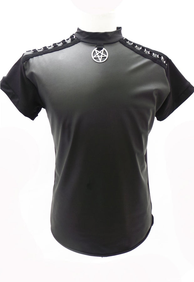 Pentagram PVC Short Sleeve Top