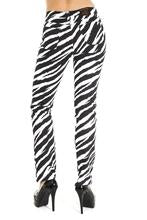 Black & White Zebra Stretch Skinny Jeans