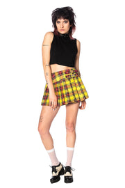 Yellow Tartan Mini Skirt