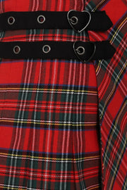 Ladies Red Tartan Kilt
