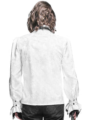 White Brocade Aristocratic Shirt