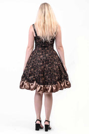 Time Clocks Rouched Dress