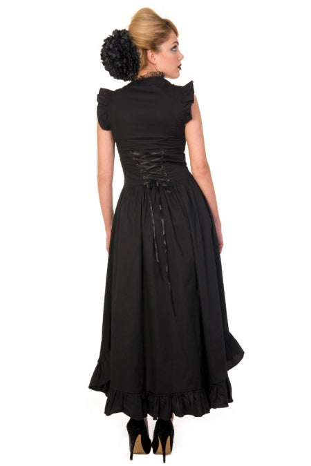 Black Gothic Copper Victorian Dress