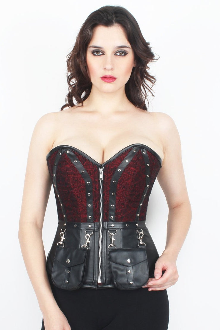 Zip Up Steel Boned Corset