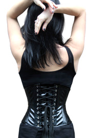 Black PVC Waist Training Underbust