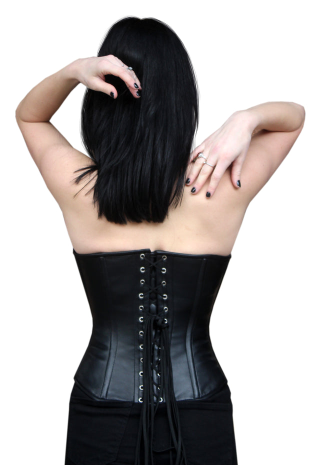 Black Leather Overbust
