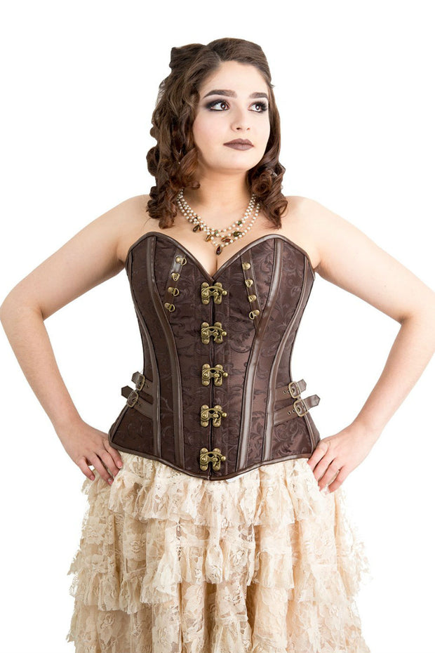 Black Widow Brown Steampunk  Overbust