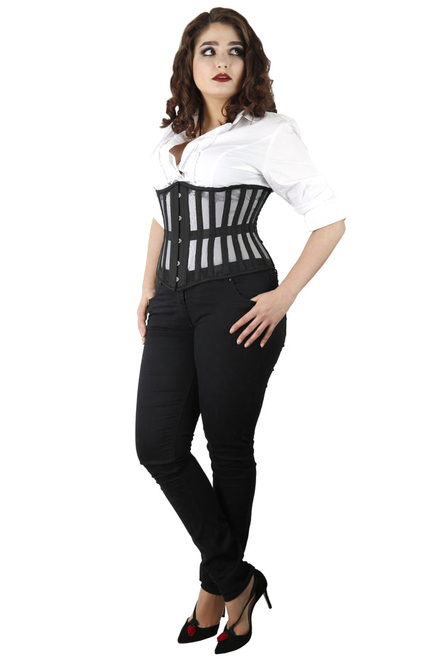 Black Mesh Waist Training Underbust