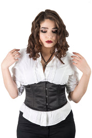 Black Satin Waist Training Underbust